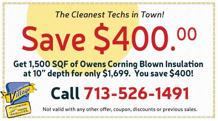Save on Owens Corning blown insulation